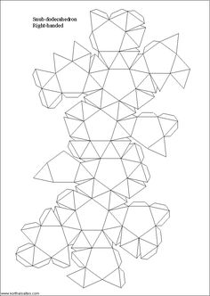 Snub dodecahedron template (Archimedean Solids)