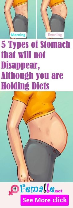 5 Types of Stomach that will not Disappear, Although you are Holding Diets