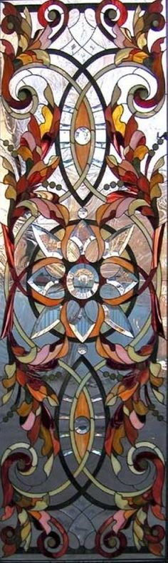 WINTERBERRY — Beautiful stained glass panel…autumnally perfect!