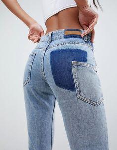 Liquor N Poker stepped waist skinny boyfriend jean | ASOS Custom Clothes, Diy Clothes, Denim Fashion, Fashion Outfits, Curvy Fashion, Fashion Fashion, Fashion Trends, Textiles Y Moda, Look Jean