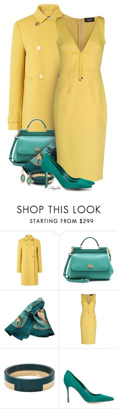 """""""Yellow and Me"""" by anjelakewell ❤ liked on Polyvore featuring L.K.Bennett, Dolce&Gabbana, Hermès, Dsquared2, Marni, Sergio Rossi and 1928"""