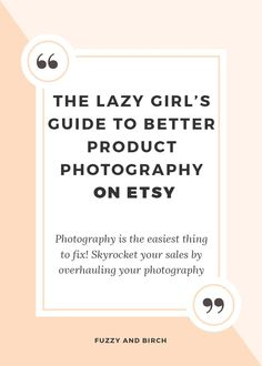 "Do you look at your product images and think, ""yeah they're OK."" Guess what? ""OK"" isn't good enough! This is Etsy, not Ebay. Buyers are looking for unique, one-of-a-kind goodies. THAT LOOK AMAZING. And feel boutique-y. You need to take one look at your images and go ""Holy F*ck, I'm awesome!"" You're here because you"