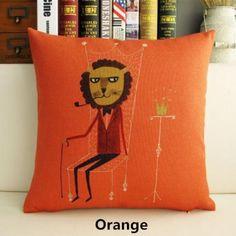 Bear decorative pillows cartoon design animal cushion 18 inch