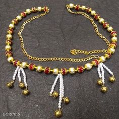 Kamarband and Belly Chains Women's Beaded Gold Plated Kamarband Base Metal: Alloy Plating: Gold Plated Stone Type: Artificial Beads Sizing: Adjustable Type: Chain Multipack: 1 Sizes: Free Size Country of Origin: India Sizes Available: Free Size *Proof of Safe Delivery! Click to know on Safety Standards of Delivery Partners- https://ltl.sh/y_nZrAV3  Catalog Rating: ★4.1 (2542)  Catalog Name: Women's Baeded Gold Plated Kamarband CatalogID_761845 C77-SC1420 Code: 961-5157015-