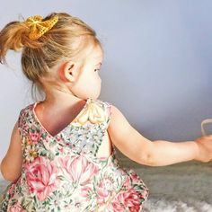 Pinafore dress for little girls by What The Frock