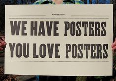 We Have/You Love Posters  singles by WildingDavisCompany on Etsy, $25.00