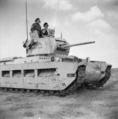 A Matilda tank on patrol in the Western Desert, 1942.