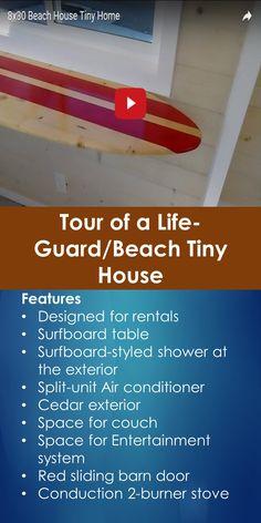 Tiny House Tour: Tour of a Life-Guard/Beach Tiny House   Tiny Quality Homes