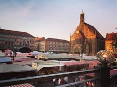 The #frauenkirche amongst what I think is the #altstadtfest in #nuremberg  #germany #travel