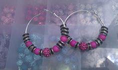 Fushia Pink Hoops