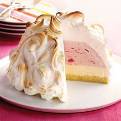 Strawberry-Lemon Baked Alaska #Recipe