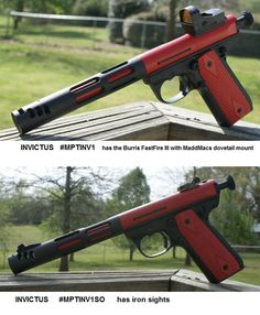 INVICTUS - MPTINV1 and MPTINV1SO - modified Ruger 22/45 Target Model 10107