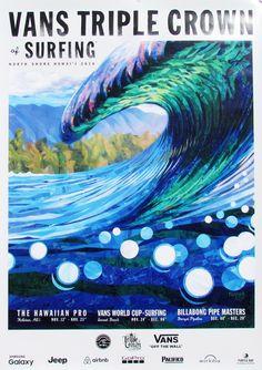 2016 Vans Triple Crown of Surfing Online Store - 2016 Vans Triple Crown of Surfing Event 4-Poster Pack