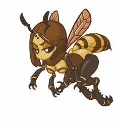 Honeybee (Soldier) by MuHut Monster Design, Monster Art, Monster Hunter, Anime Monsters, Cute Monsters, Thicc Anime, Anime Art, Character Art, Character Design