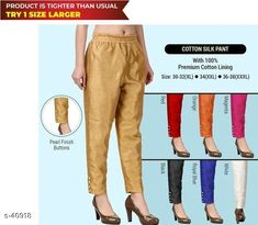 Checkout this latest Trousers & Pants Product Name: *Cotton Silk Pant* Material: MDF Pack: Pack of 3 Product Length: 0.5 Inch Product Breadth: 18 Inch Product Height: 15 Inch Country of Origin: India Easy Returns Available In Case Of Any Issue   Catalog Rating: ★3.9 (2275)  Catalog Name: Cotton Silk Pant CatalogID_4322 C79-SC1034 Code: 034-40918-6801