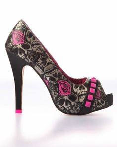 Iron Fist Muerte Punk Princess Platform Heel Shoe – i own these in pink and lime green! With matching tote bag Iron Fist Muerte Punk Princess Platform Heel Shoe – i own these in pink and lime green! With matching tote bag Dream Shoes, Crazy Shoes, Me Too Shoes, Stilettos, Pumps, Pretty Shoes, Beautiful Shoes, Platform Shoes Heels, High Heels