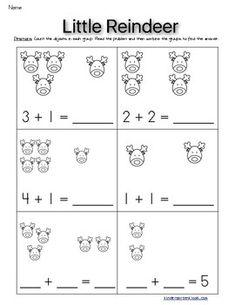 Christmas Addition Problems Fluency 0-5 Kindergarten Math Worksheets, Homeschool Kindergarten, Kindergarten Class, Preschool, Christmas Cards Drawing, Disney Classroom, Learning Centers, Kids Education, Curriculum
