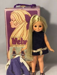 Ideal Crissy's Cousin Velvet with Two Outfits and Original Box