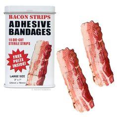 BACON shaped themed Adhesive Bandages