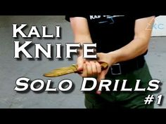 KNIFE DRILLS for Solo Training - Filipino Escrima Arnis Kali - YouTube