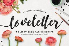 Loveletter Script + Vectors by MakeMediaCo. on @creativemarket