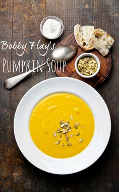 Bobby Flay's pumpkin soup is a must have for your #Thanksgiving table