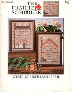 prairie schooler wedding birth sampler book 26 - Google Search