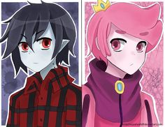 Adventure Time - Marshall Lee and Prince Gumball