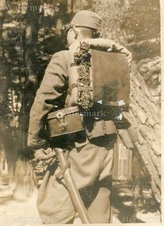 ORIGINAL WWII JAPANESE PHOTO: ARMY MEDIC OFFICER IN FULL GEAR!!!