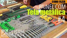 Painel com tela metálica #4 – suportes de ferramentas e dicas