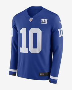 e413f0bfe71 Nike Men's Long-Sleeve Football Jersey NFL New York Giants Jersey (Eli  Manning)