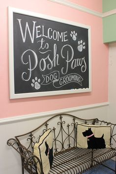 Posh Paws Dog Grooming Salon is a lovely, friendly, clean and modern fresh new salon situated in Northumberland. This was such a lovely and refreshing project to work on, a lovely dog grooming salon in my local area. The client wanted a slight qu… Dog Grooming Shop, Dog Grooming Salons, Dog Grooming Business, Poodle Grooming, Dog Spa, Pet Hotel, Dog Salon, Pet Boutique, Dog Daycare