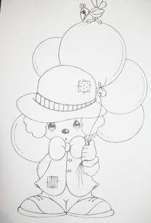 Pintura em Tecido, Como fazer, Passo a passo, Riscos e muitas dicas.: Risco para Pinturas Desenhos Infantis