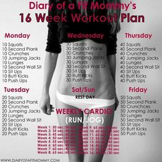 """""""Looking for a fun and FREE workout to do that's perfect for beginners? The best part of all... NO GYM NEEDED! Here's a NEW 16 WEEK WORKOUT! Who's ready?…"""""""