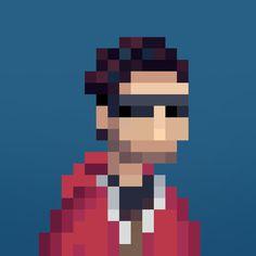 Custom minimalist Pixel Portraits on Fiverr! ( fiverr.com/s/955zwm )
