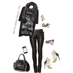 Rocker Chic-really tempted to get some black leather pants...