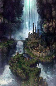 63 trendy ideas for fantasy landscape forests concept art Fantasy Artwork, Fantasy Art Landscapes, Fantasy Concept Art, Fantasy Landscape, Landscape Art, Landscape Concept, Digital Art Fantasy, Fantasy Magic, Fantasy City