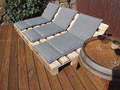 lounge gartenmöbel 2-sitzer palettenmöbel, terrasse vintage design, Garten und erstellen
