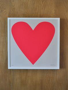 Fluoro Heart Print $50 #babylettostyle