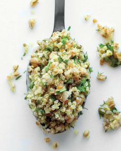 Mixed Grain and Herb Salad (quinoa, bulgur, brown rice and/or farro)