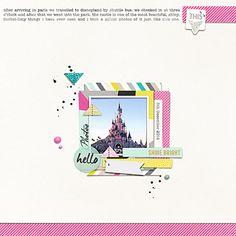 Disneyland by JuliettePerkins at the Lilypad   #DisneyScrapbooking