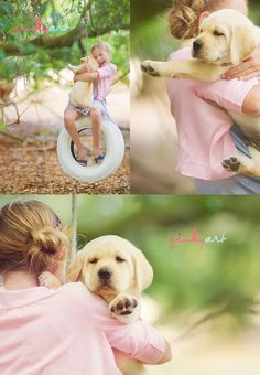 a girl and her dog... i love this.