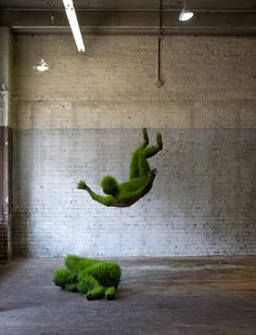 Mathilde Rouseel: Lives of Grass (Living  Sculptures! check out her paper work sculpture too!)
