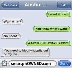 No Bunnys - - Autocorrect Fails and Funny Text Messages - SmartphOWNED
