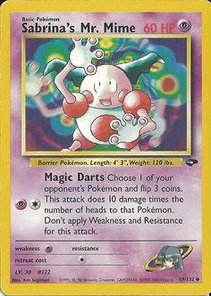 Sabrina's Mr. Mime Pokemon Card