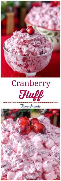 This pretty Cranberry Fluff Salad, made with fresh cranberries, makes a sweet and delicious salad, side dish, or dessert for a Thanksgiving or Christmas holiday dinner. #SplendaSavvies #SweetSwaps #ad @SPLENDA  via @flavormosaic