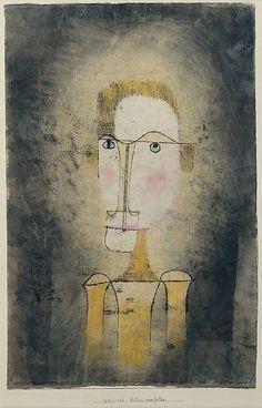Retrato de un hombre amarillo Paul Klee (alemán (nacido en Suiza), Münchenbuchsee 1879-1940 Muralto-Locarno) Fecha: 1921 Medio: Acuarela, tinta transferida impresión y tinta sobre papel Dimensiones: H. 17-1/2, 11-3/8 pulgadas (W. 44,5 x 28,9 cm.) Clasificación: Dibujos Línea de crédito: La Colección Berggruen Klee, 1984