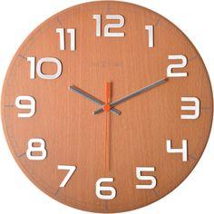 """Ścienny zegar z najnowszej serii """"Classy"""" Nextime. Ten model dostępny jest w dwóch kolorach: buk i orzech. Ponadczasowy design, który pasować będzie do wielu różnych przestrzeni. #clock #zegar #nextime #classy #design #time #dizajn #akcesoria #accessories #decosalon www.decosalon.pl"""