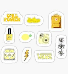 Yellow stickers featuring millions of original designs created by independent artists. Tumblr Stickers, Phone Stickers, Cute Stickers, Wallpaper Stickers, Aesthetic Phone Case, Summer Wallpaper, Coque Iphone, Aesthetic Stickers, Printable Stickers