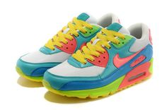 Nike Air Max 90 men women Colorful White Blue caa9af884a7f2
